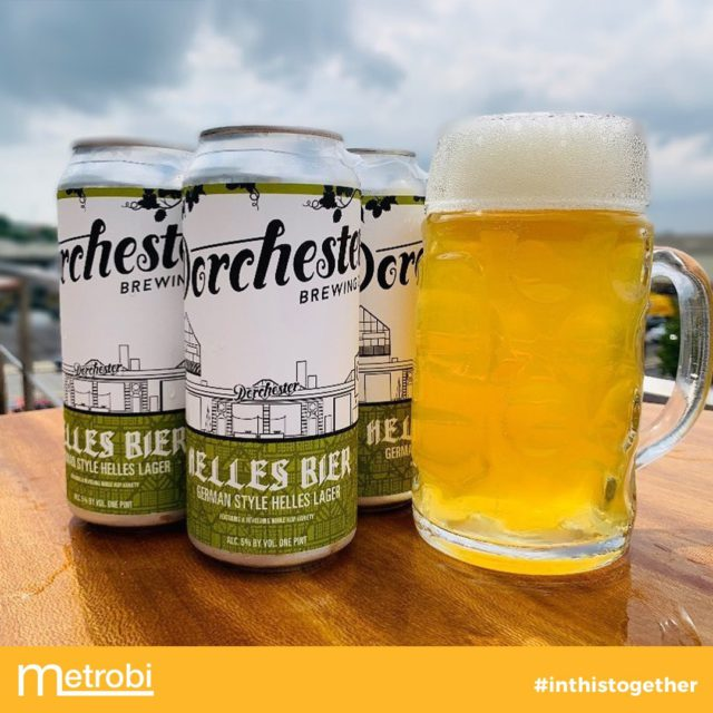 "@dorchesterbrewing introduces the brand new German Style Helles Lager. 🍺⁣ ⁣ ""This batch is dripping with notes of tangerine and orange peel from the Mandarina hop variety. Balanced by subtle hop bitterness and soft bready sweetness from German pilsner malt."" ⁣ ⁣ Check out @dorchesterbrewing page 🥰⁣ ⁣ 🚛 Metrobi delivers.⁣"
